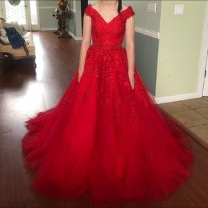 NWT Red Sherri Hill Pageant Prom Formal Dress